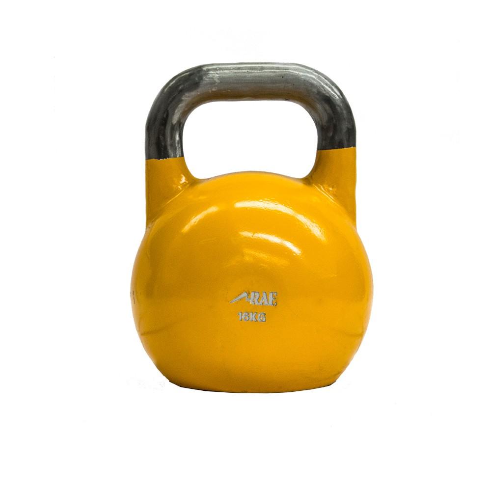 Kettlebell de Competição de Ferro Colorido para Treinamento Funcional 16 kg - Rae Fitness