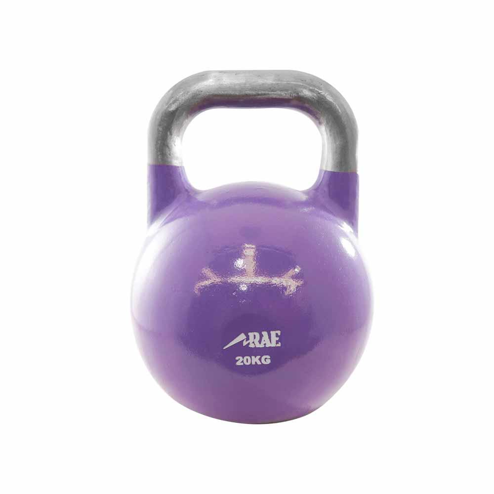 Kettlebell de Competição de Ferro Colorido para Treinamento Funcional 20 kg - Rae Fitness