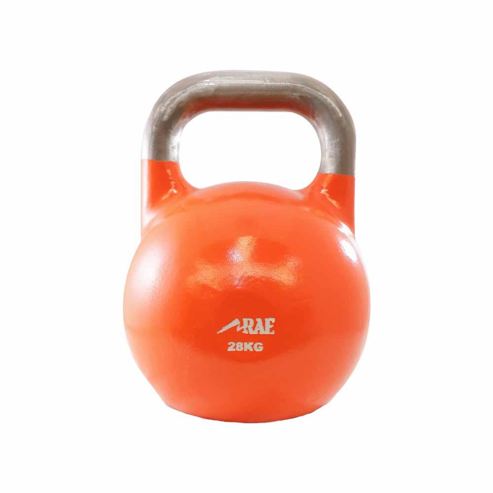 Kettlebell de Competição de Ferro Colorido para Treinamento Funcional 28 kg - Rae Fitness