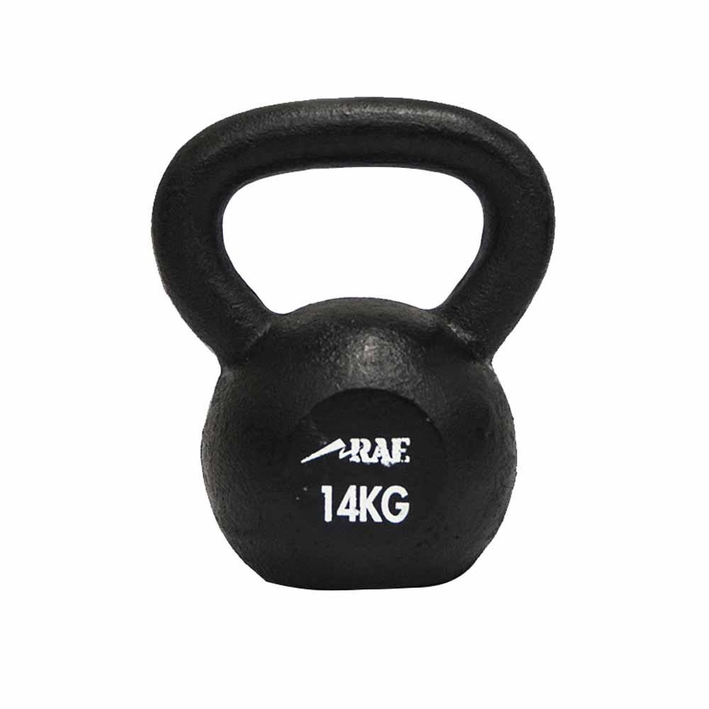 Kettlebell de Ferro Polido para Treinamento Funcional 14 kg - Rae Fitness