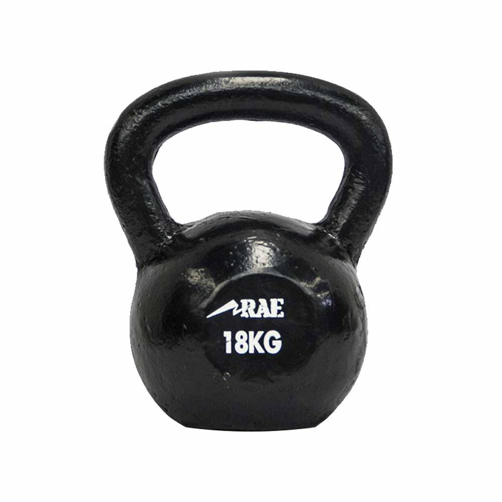 Kettlebell de Ferro Polido para Treinamento Funcional 18 kg - Rae Fitness