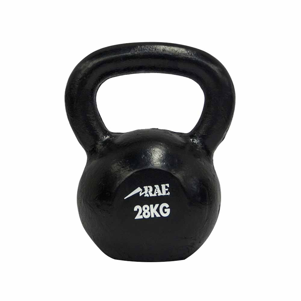 Kettlebell de Ferro Polido para Treinamento Funcional 28 kg - Rae Fitness