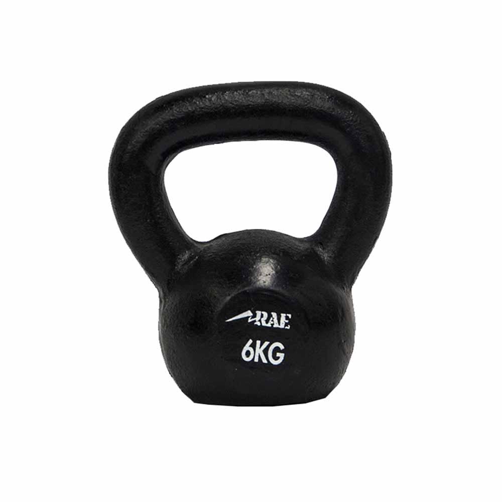 Kettlebell de Ferro Polido para Treinamento Funcional  6 kg - Rae Fitness