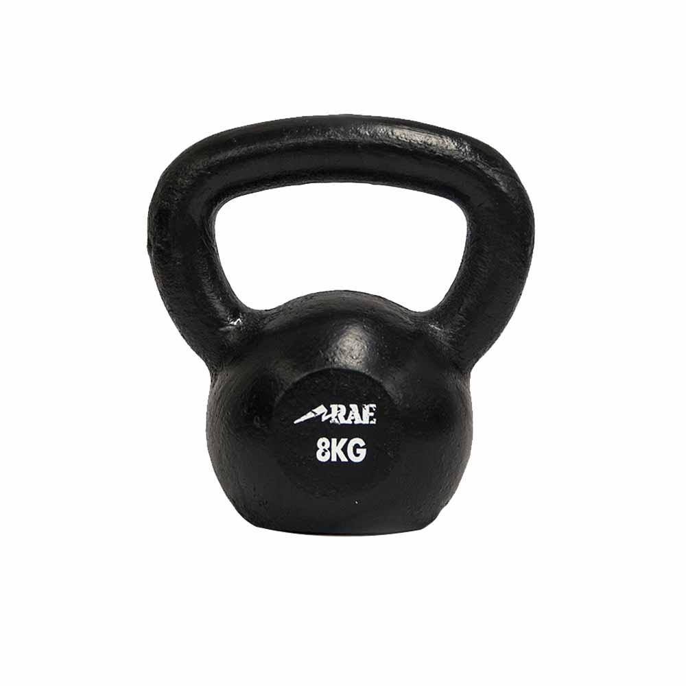 Kettlebell de Ferro Polido para Treinamento Funcional  8 kg - Rae Fitness