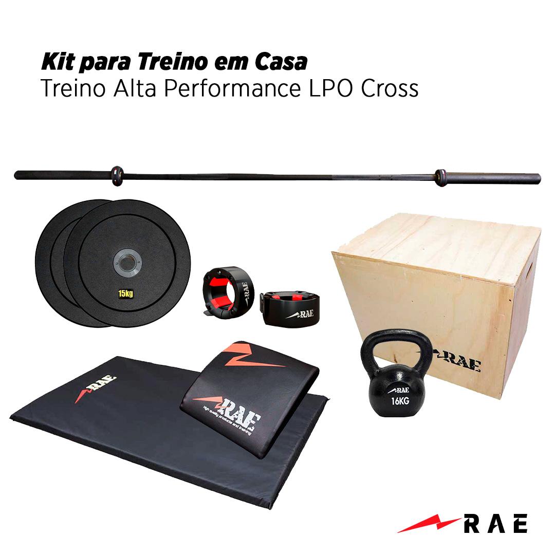 Kit para Treino em Casa - Treino Alta Performance LPO Cross - Rae Fitness