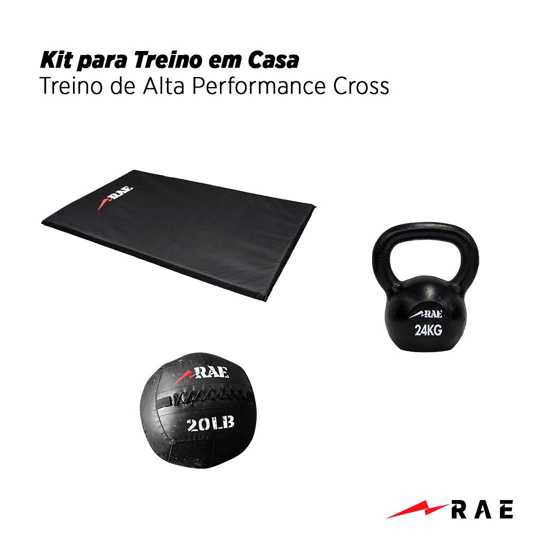 Kit para Treino em Casa - Treino de Alta Performance Cross - Rae Fitness