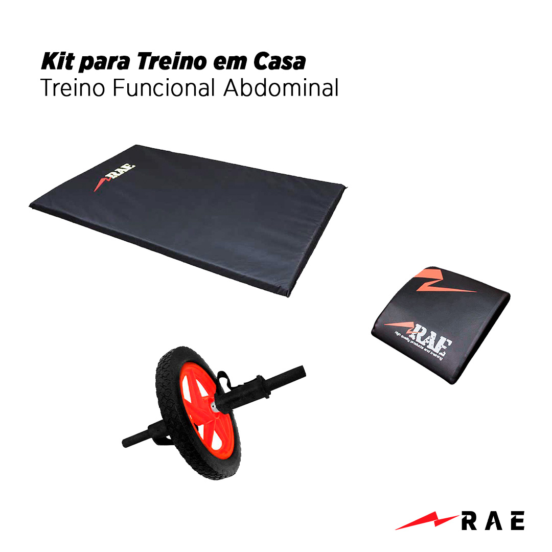 Kit para Treino em Casa - Treino Funcional Abdomnal - Rae Fitness