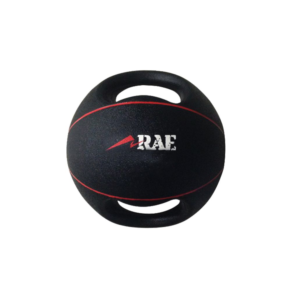 Bola Emborrachada para Treinamento Funcional - Medicine Ball com Duas Pegadas - Rae Fitness