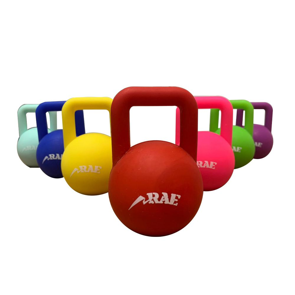 Mini Kettlebell Emborrachado Colorido de 1lb - Brinde - Rae Fitness