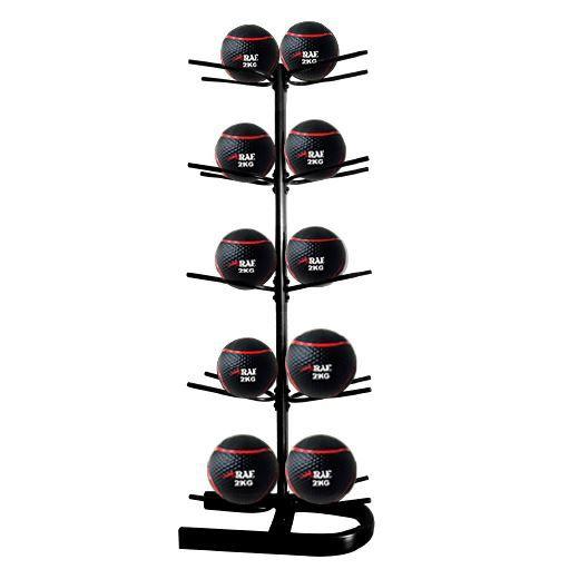 Suporte Expositor Vertical para 10 bolas - Medicine Ball - Rae Fitness