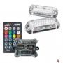 Kit Strobo RGB Ritmico 2.0 c/ Controle Remoto  e 2 Farois 3W AJK