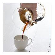 Cafeteira de vidro artesanal