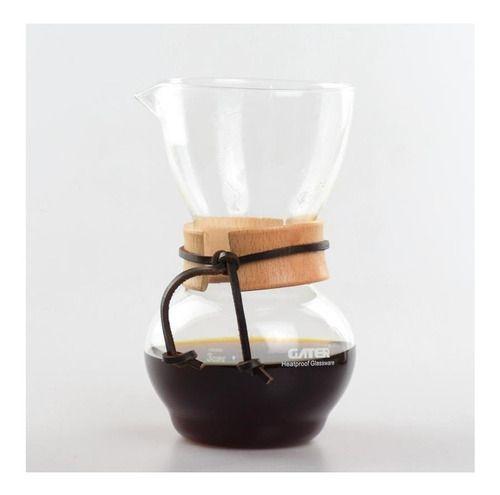 Cafeteira de vidro desing Chemex