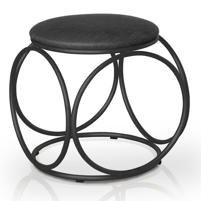 Banqueta Dali black/linhão preto - Pelaio