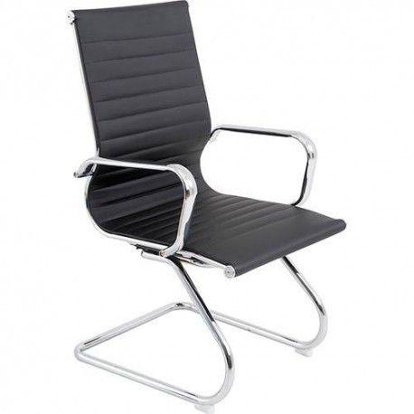 Cadeira Bulk Continental Visitante Office Preta