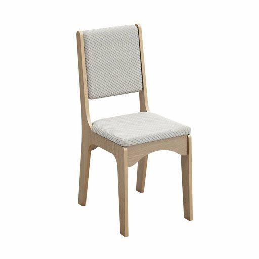Cadeira Dalla Costa com assento e escosto estofado
