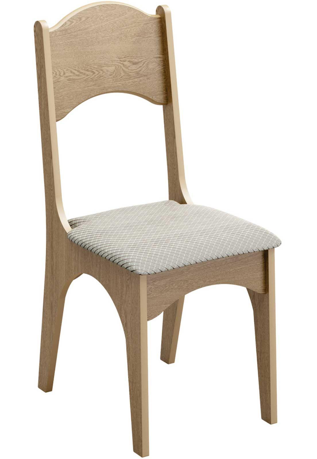 Cadeira Dalla Costa com assento estofado
