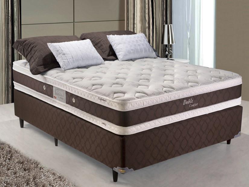 Colchão Box Solteirão Doble Comfort 30x96x203 Malha - Herval