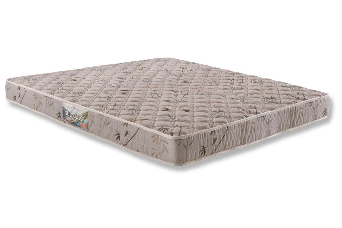 Colchão de Espuma ST. Louis D28 Queen 17x158x188 tecido bordado - Herval