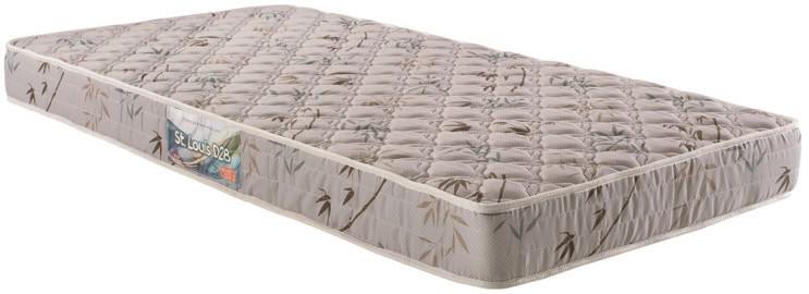 Colchão de Espuma ST. Louis D28 Solteiro 17x88x188 tecido bordado - Herval