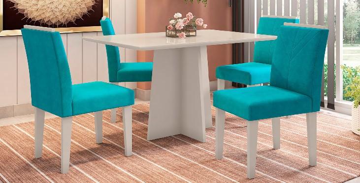 Conjunto Ana + cadeira Amanda 4 lugares - New Ceval