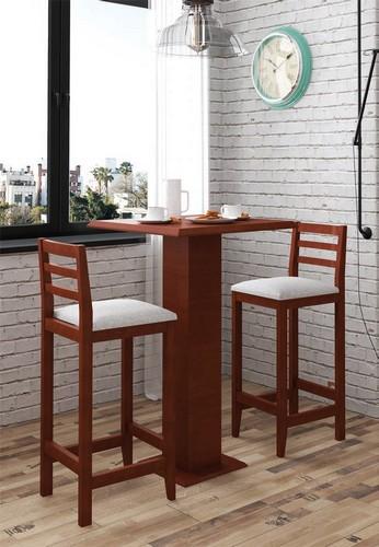 Conjunto Bistrô + 2 cadeiras 1,05x0,65x0,65 - Mesasul
