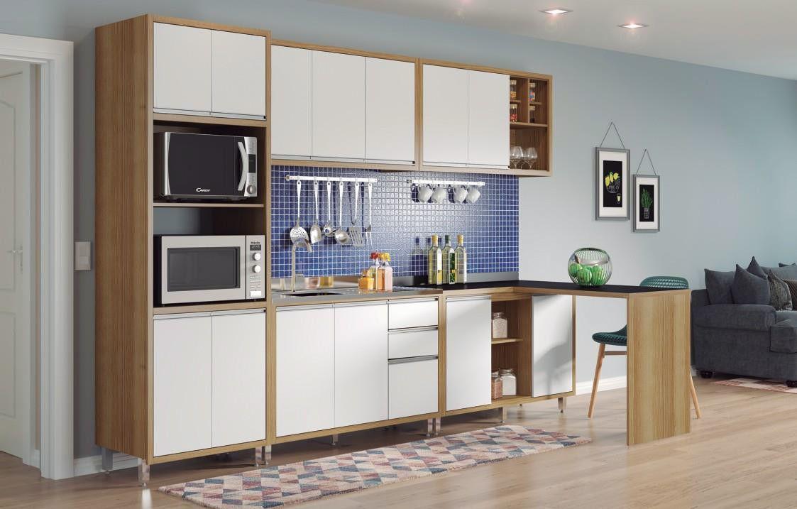 Cozinha Nice 03 diamond/branco - Ditália