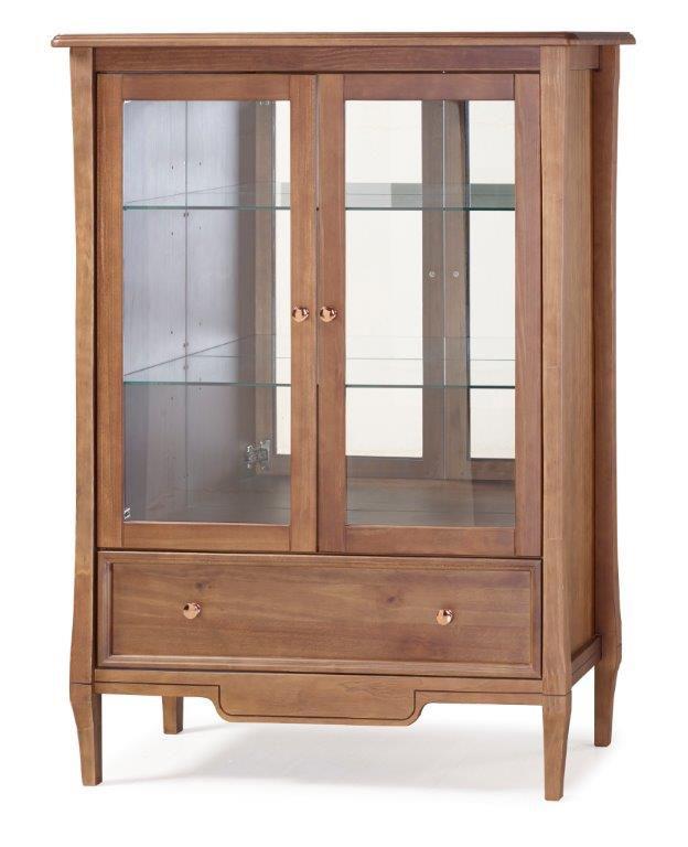 Cristaleira Alta 2 portas 1 gaveta com espelho Amsterdã - Weihermann