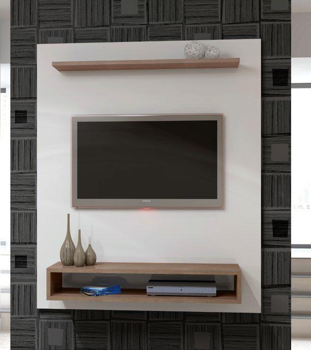 Home Turim 1360mm branco fosco/carvalho évora - KNR Móveis