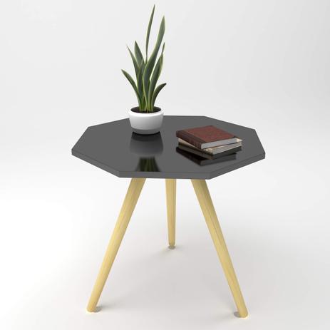 Mesa de canto Octa M 18mm de espessura laccato nero - Manfroi