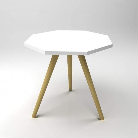 Mesa de canto Octa M 25mm de espessura branco - Manfroi