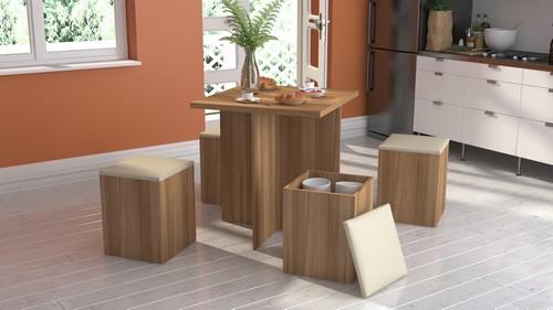 Mesa e 4 banquetas para sala de jantar - Appunto