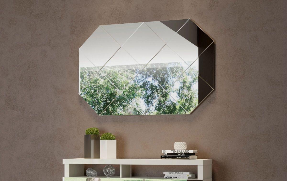 Painel decorativo espelhado 127,5cm - Dalla Costa