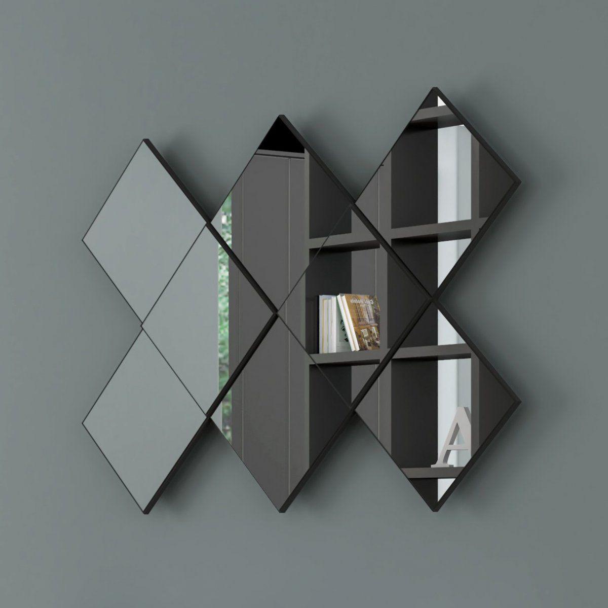 Painel decorativo espelhado losango - Dalla Costa