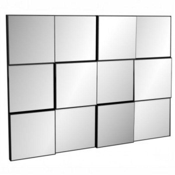 Painel decorativo espelhado quadriculado 100 x 75 x 5 - Dalla Costa