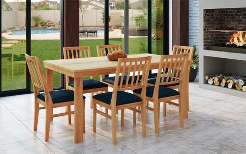 Sala de Jantar Gabi + 6 cadeiras 2,00x0,90x0,80 - Mesasul