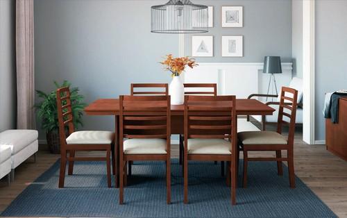 Sala de Jantar July + 6 cadeiras Maysa 2,00x0,78,90 - Mesasul