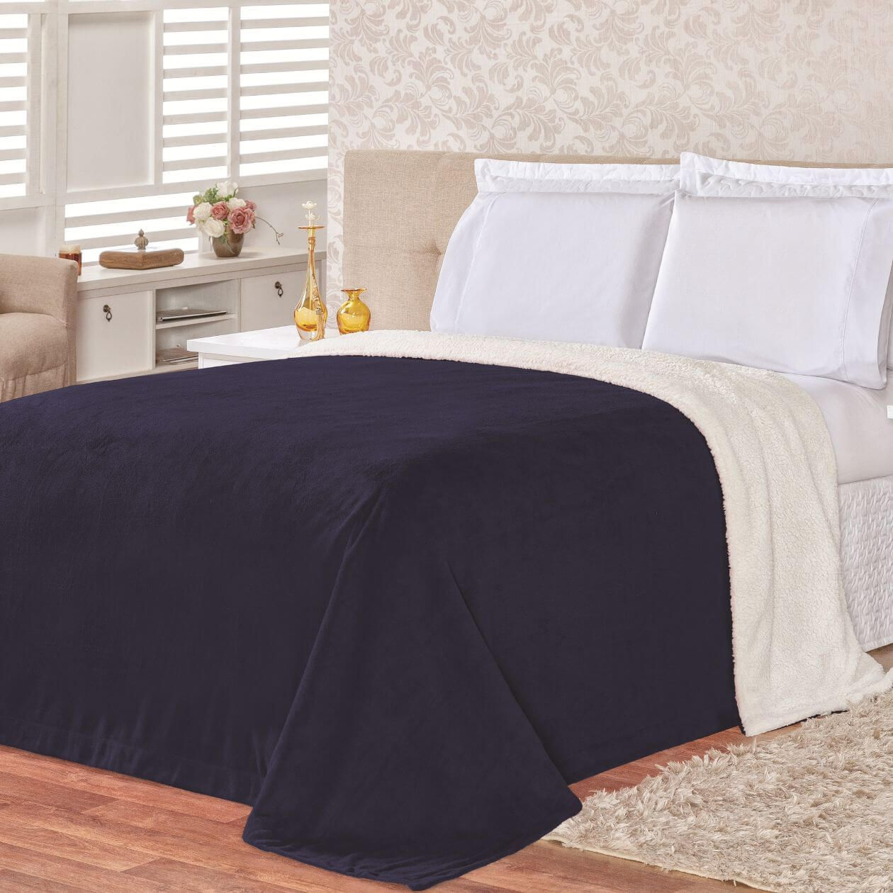 Cobertor Alaska Casal Queen é composto por 01 Peça
