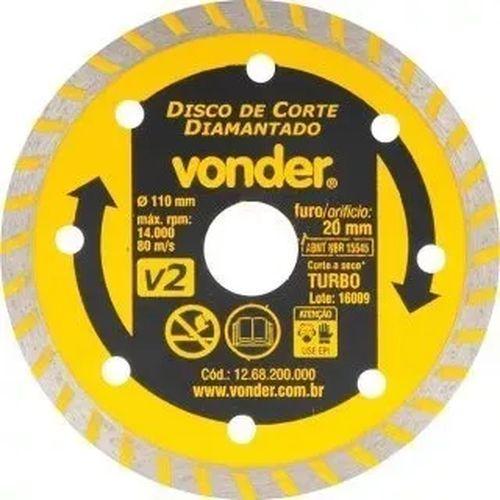 12561 - DISCO DIAMANT 110MM V2 FURO 20 VONDER