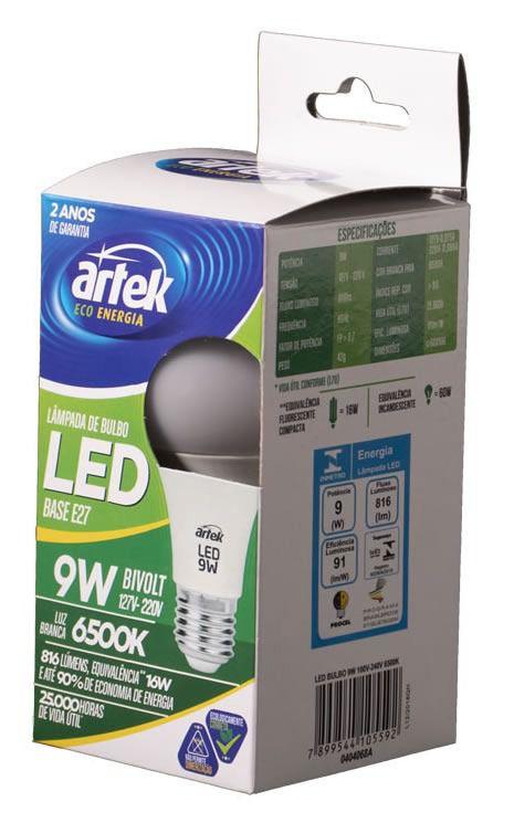 12793 - LAMPADA BULBO LED 9W 100V-240V