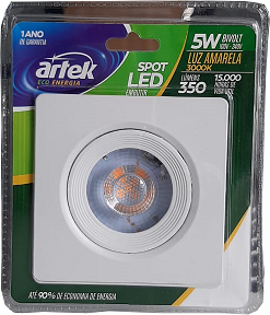 14701 - SPOT LED QUADRAD 5W 100-240V 3000K