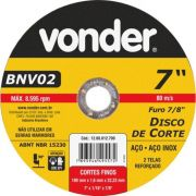 12559 - DISCO CORTE 180X1.6X22,23MM BNV02 VONDER
