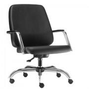 Cadeira Escritório Diretor Reforçada Suporta 150Kg Estrutura Cromada