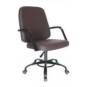 Cadeira Escritório Diretor Reforçada Suporta 150Kg Estrutura Preta
