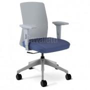 Cadeira Escritório Giratória Diretor Branco Cavaletti Moov