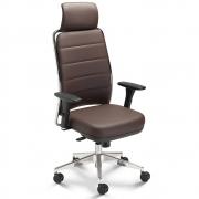 Cadeira Escritório Giratória Presidente com Encosto de Cabeça Cavaletti Soft