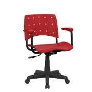 Cadeira Escritório Giratória Secretária com Braços