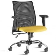 Cadeira Escritório Tela Mesh Diretor em Poliéster