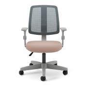Cadeira Escritório Tela Mesh Executiva Estrutura Cinza Flip Light Cavaletti