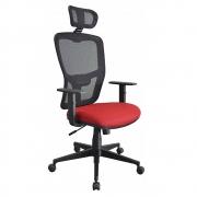 Cadeira Escritório Tela Mesh Presidente com Encosto de Cabeça